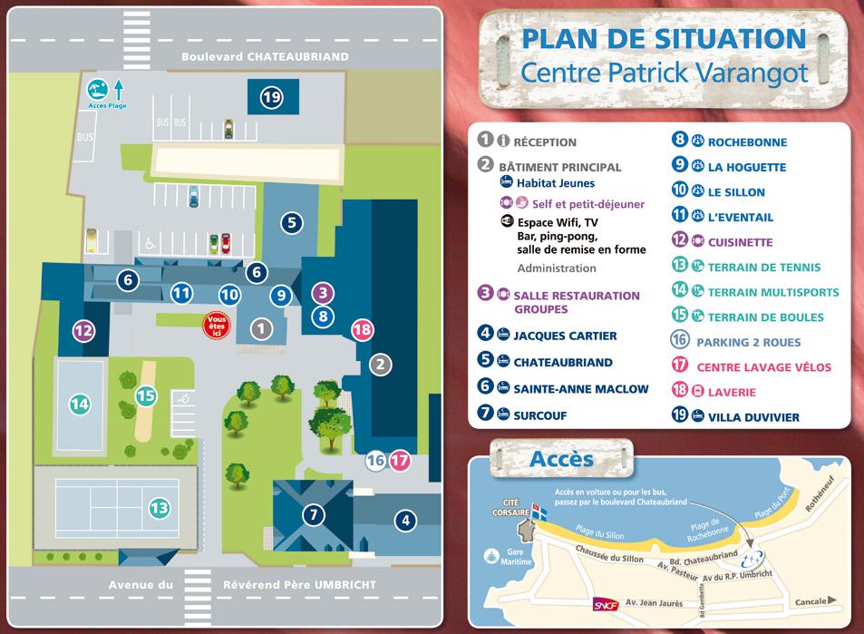 Plan du centre Varangot